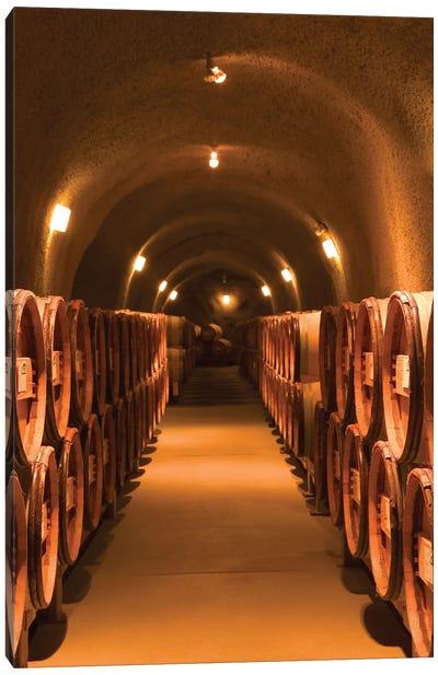 Winery Cask Room, Pine Ridge Vineyards, Napa Valley AVA, California, USA Canvas Art Print