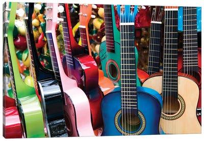Toy Guitars, Olvera Street Marketplace, Los Angeles Plaza Historic District (El Pueblo de Los Angeles Historical Monument), Los Angeles, California, USA Canvas Print #WBI34