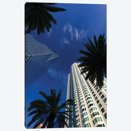 Low-Angle View, US Bank Tower (Library Tower) & Citigroup Center (444 Flower Building), Los Angeles, California, USA Canvas Print #WBI35} by Walter Bibikow Canvas Print