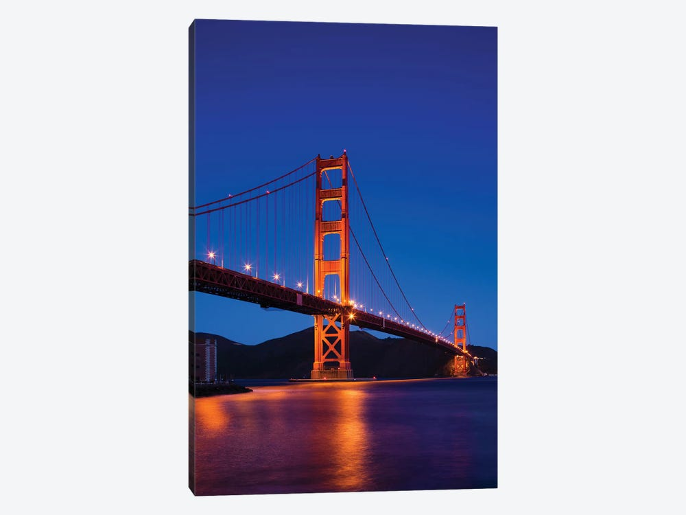 Golden Gate Bridge At Night, San Francisco, California, USA by Walter Bibikow 1-piece Canvas Art Print