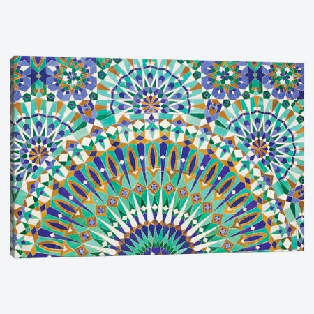 Close-Up Of A Decorative Mosaic II, Hassan II Mosque, Casablanca, Morocco Canvas Print #WBI3} by Walter Bibikow Canvas Art