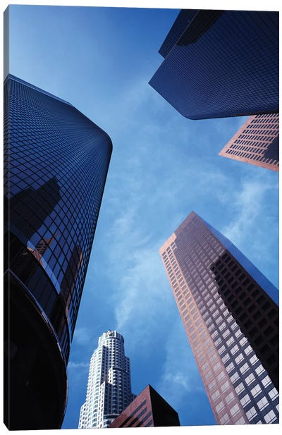 Low-Angle View Of Skyscrapers, Los Angeles, California, USA Canvas Art Print