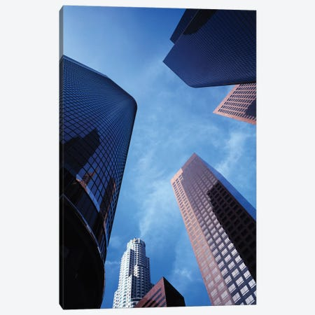 Low-Angle View Of Skyscrapers, Los Angeles, California, USA Canvas Print #WBI42} by Walter Bibikow Canvas Art Print