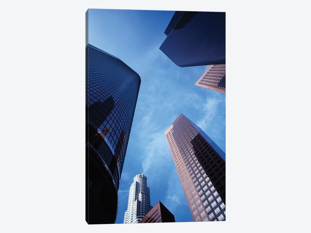 Low-Angle View Of Skyscrapers, Los Angeles, California, USA by Walter Bibikow 1-piece Canvas Artwork