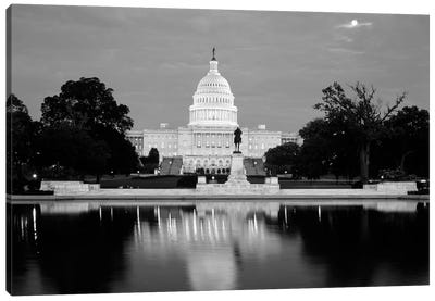 Ulysses S. Grant Memorial And Capitol Building At Night, Washington D.C. USA Canvas Art Print