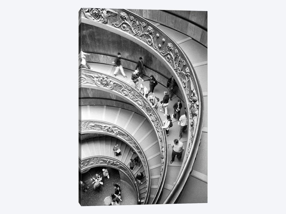 "Modern ""Bramante"" Staircase, Museo Pio-Clementine, Vatican City by Walter Bibikow 1-piece Canvas Print"