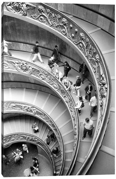 "Modern ""Bramante"" Staircase, Museo Pio-Clementine, Vatican City Canvas Art Print"