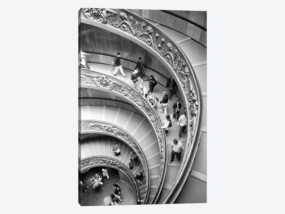 "Modern ""Bramante"" Staircase, Museo Pio-Clementine, Vatican City by Walter Bibikow 1-piece Canvas Print"