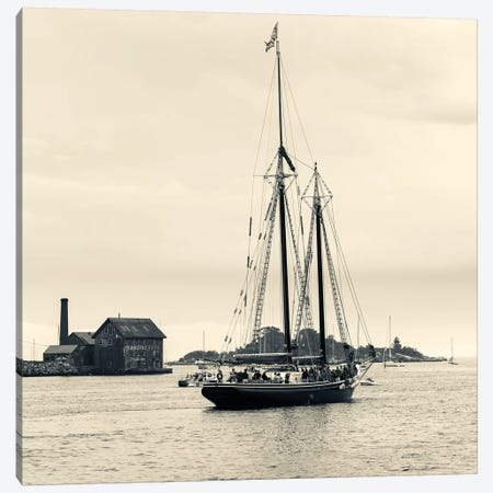 Roseway During The Gloucester Schooner Festival, Gloucester Harbor, Gloucester, Massachusetts, USA Canvas Print #WBI48} by Walter Bibikow Canvas Art Print