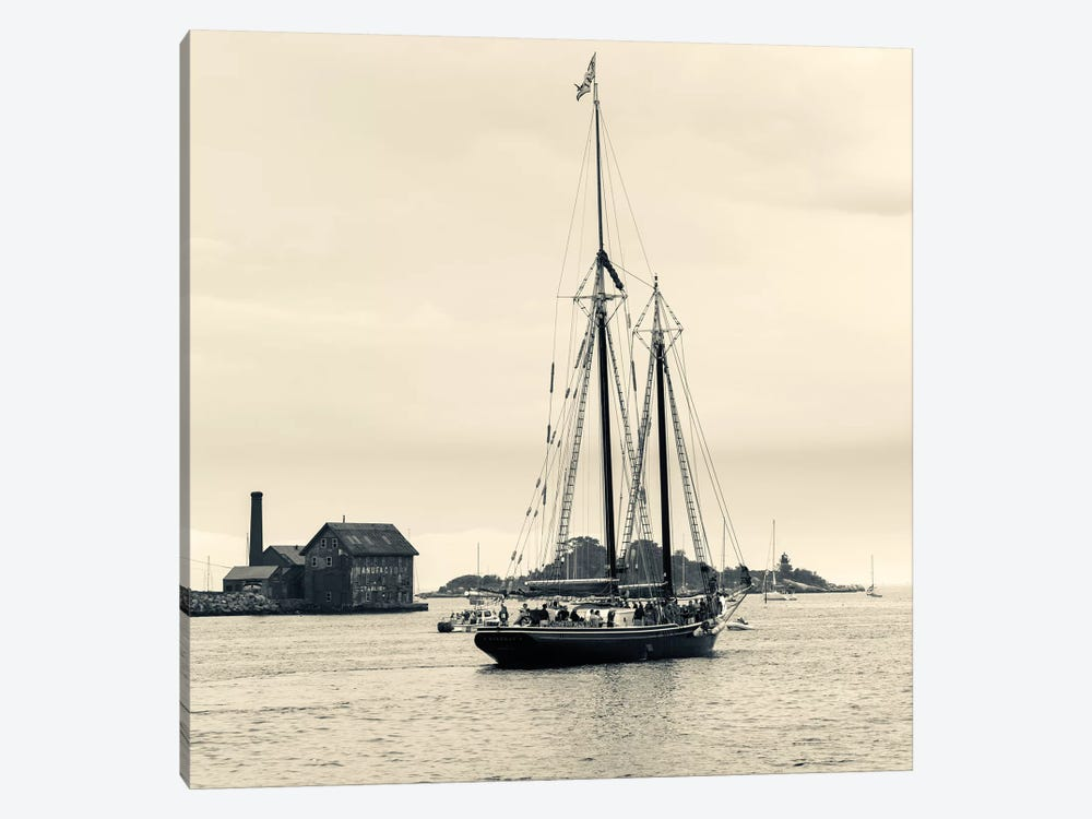 Roseway During The Gloucester Schooner Festival, Gloucester Harbor, Gloucester, Massachusetts, USA by Walter Bibikow 1-piece Canvas Wall Art