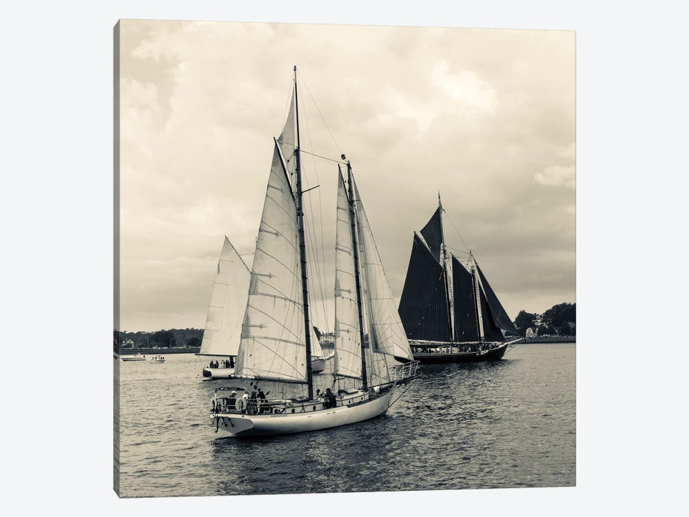Perception And Roseway During The Gloucester Schooner Festival, Gloucester Harbor, Gloucester, Massachusetts, USA by Walter Bibikow 1-piece Canvas Art Print