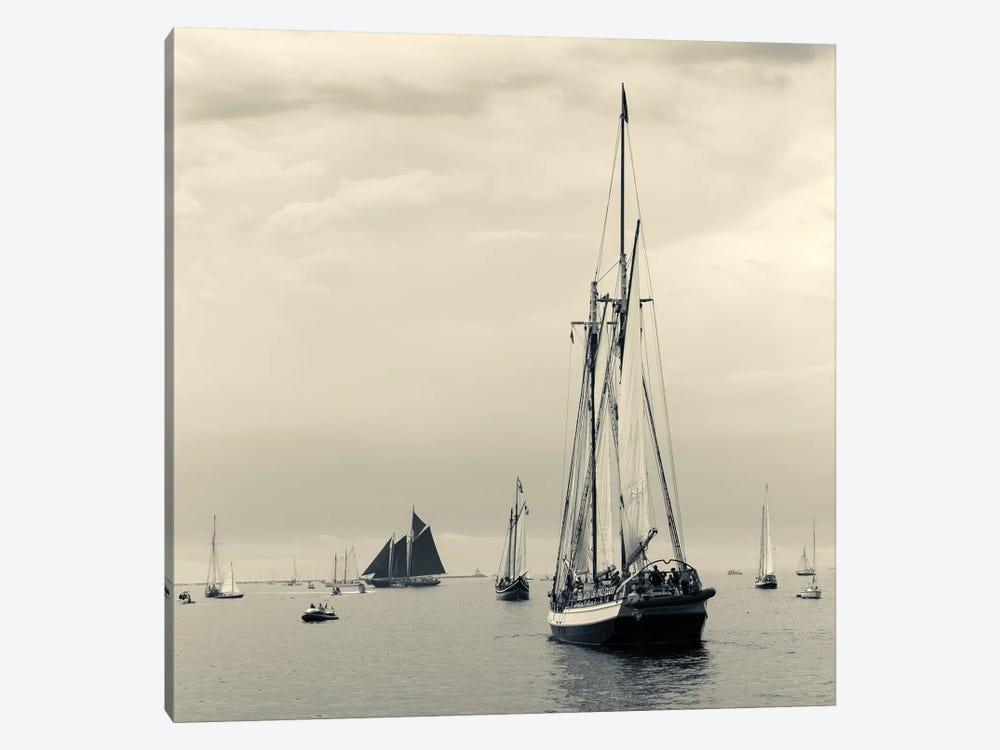 Liberty Clipper I During The Gloucester Schooner Festival, Gloucester Harbor, Gloucester, Massachusetts, USA by Walter Bibikow 1-piece Art Print
