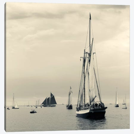 Liberty Clipper I During The Gloucester Schooner Festival, Gloucester Harbor, Gloucester, Massachusetts, USA 3-Piece Canvas #WBI50} by Walter Bibikow Canvas Artwork
