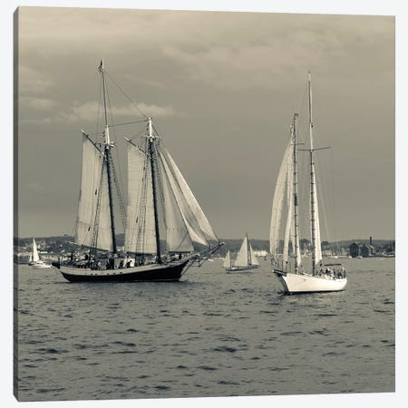Liberty Clipper II During The Gloucester Schooner Festival, Gloucester Harbor, Gloucester, Massachusetts, USA 3-Piece Canvas #WBI51} by Walter Bibikow Canvas Wall Art