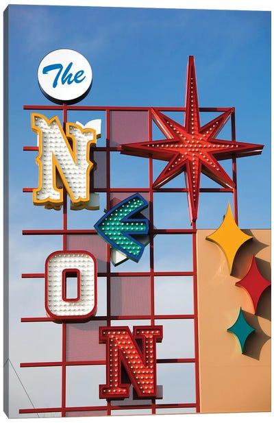The Neon Boneyard Park Sign In Zoom, Neon Museum, North Las Vegas, Clark County, Nevada, USA Canvas Art Print