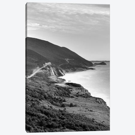 Coastal Landscape In B&W, Cap-Rouge, Cape Breton Island, Nova Scotia, Canada Canvas Print #WBI5} by Walter Bibikow Canvas Art Print
