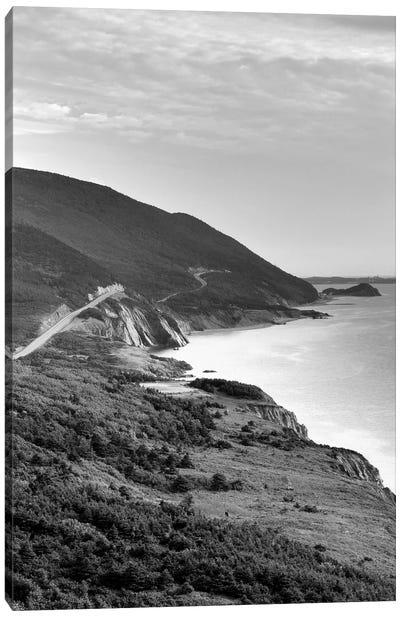 Coastal Landscape In B&W, Cap-Rouge, Cape Breton Island, Nova Scotia, Canada Canvas Print #WBI5