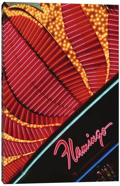 Neon Marquee, Flamingo Las Vegas, Paradise, Clark County, Nevada, USA Canvas Art Print