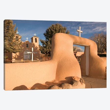 San Francisco de Asis Mission Church, Ranchos de Taos, New Mexico, USA Canvas Print #WBI62} by Walter Bibikow Canvas Print