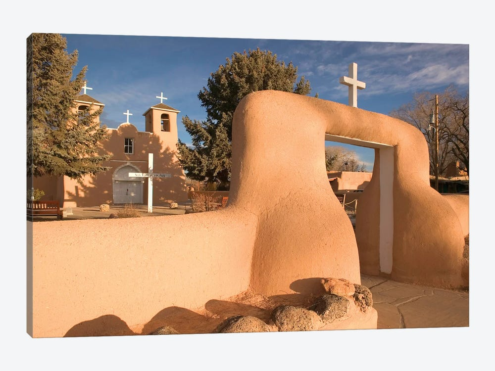 San Francisco de Asis Mission Church, Ranchos de Taos, New Mexico, USA by Walter Bibikow 1-piece Canvas Wall Art