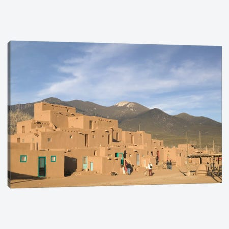 Taos Pueblo (Pueblo de Taos), Taos County, New Mexico, USA Canvas Print #WBI65} by Walter Bibikow Canvas Artwork