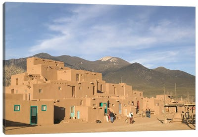 Taos Pueblo (Pueblo de Taos), Taos County, New Mexico, USA Canvas Art Print