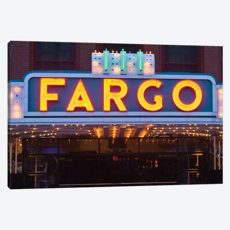 Marquee, Fargo Theatre, Fargo, Cass County, North Dakota, USA Canvas Print #WBI67} by Walter Bibikow Canvas Art