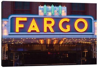 Marquee, Fargo Theatre, Fargo, Cass County, North Dakota, USA Canvas Art Print