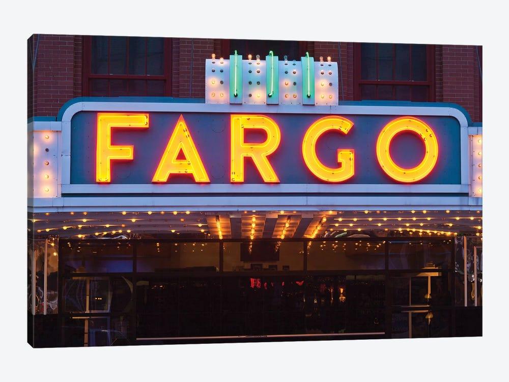 Marquee, Fargo Theatre, Fargo, Cass County, North Dakota, USA by Walter Bibikow 1-piece Canvas Print