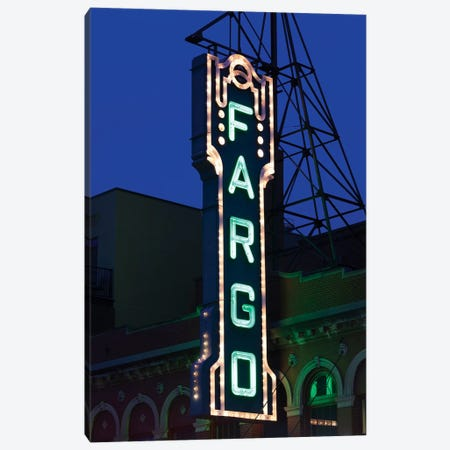 Neon Sign, Fargo Theatre, Fargo, Cass County, North Dakota, USA Canvas Print #WBI69} by Walter Bibikow Canvas Print