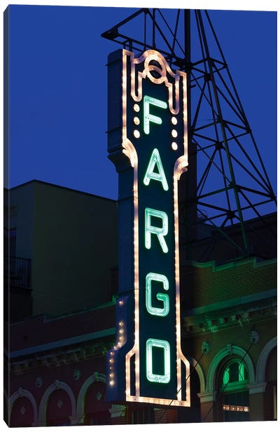 Neon Sign, Fargo Theatre, Fargo, Cass County, North Dakota, USA Canvas Art Print