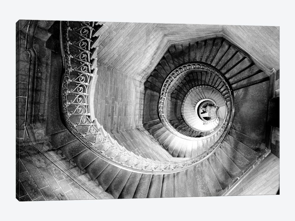 Traboules Staircase, Lyon, Auvergne-Rhone-Alpes, France 1-piece Canvas Print