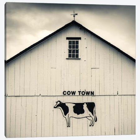 """Cow Town"" Barn Signage, Bird-In-Hand, Lancaster County, Pennsylvania Dutch Country, Pennsylvania, USA Canvas Print #WBI72} by Walter Bibikow Canvas Art"