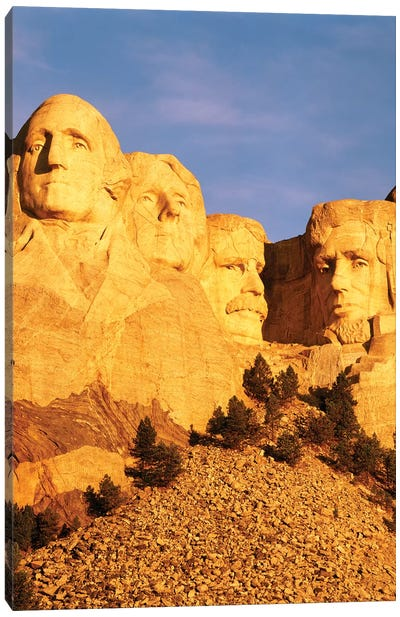 First Light Over Mount Rushmore National Memorial, Pennington County, South Dakota, USA Canvas Print #WBI75