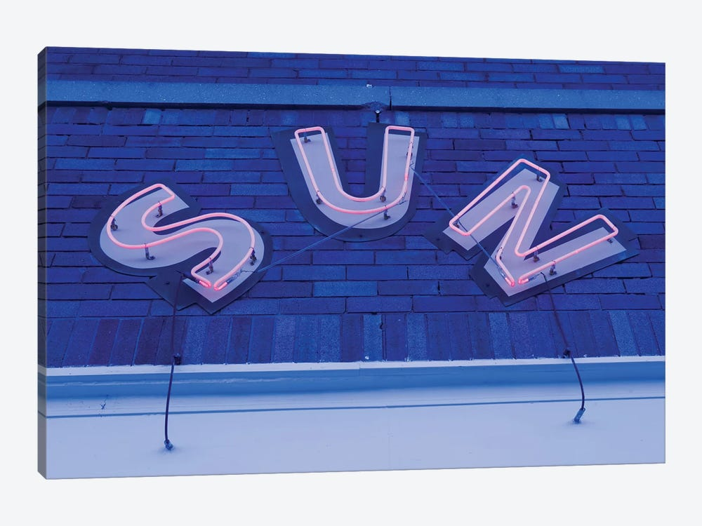Neon Sign At Twilight, Sun Studios, Memphis, Shelby County, Tennessee, USA by Walter Bibikow 1-piece Art Print