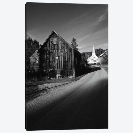 Rural Landscape In B&W, Northeast Kingdom, Vermont, USA Canvas Print #WBI79} by Walter Bibikow Canvas Artwork
