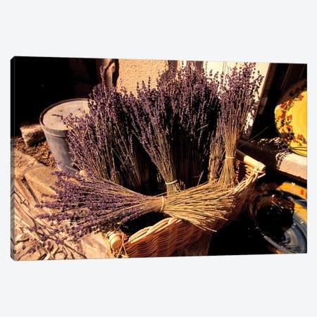 Lavender Bunches For Sale, Les Baux-de-Provence, Bouches-du-Rhone, Provence-Alpes-Cote d'Azur, France Canvas Print #WBI7} by Walter Bibikow Canvas Art Print