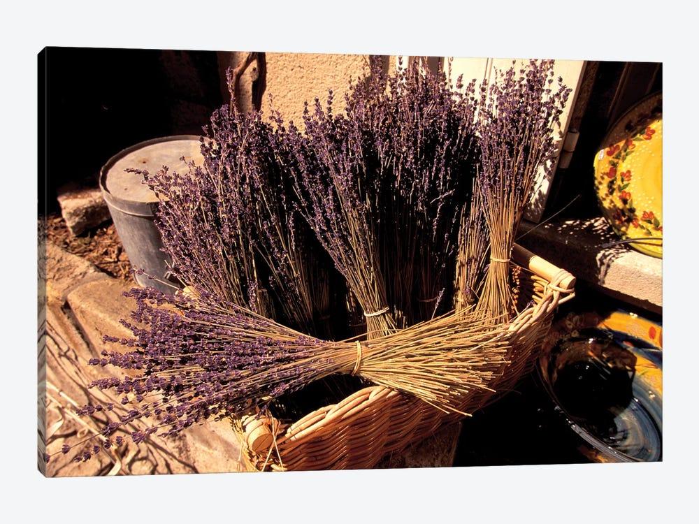 Lavender Bunches For Sale, Les Baux-de-Provence, Bouches-du-Rhone, Provence-Alpes-Cote d'Azur, France by Walter Bibikow 1-piece Canvas Art