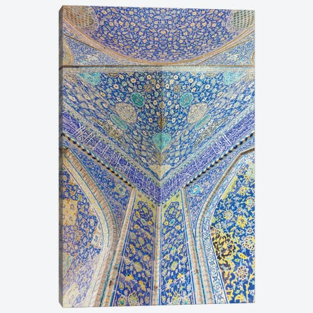 Iran, Esfahan, Naqsh-E Jahan Imam Square, Royal Mosque, Interior Mosaic Canvas Print #WBI83} by Walter Bibikow Canvas Art Print