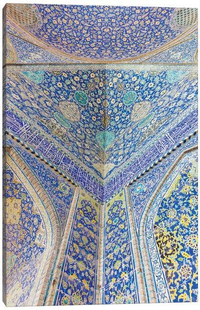 Iran, Esfahan, Naqsh-E Jahan Imam Square, Royal Mosque, Interior Mosaic Canvas Art Print