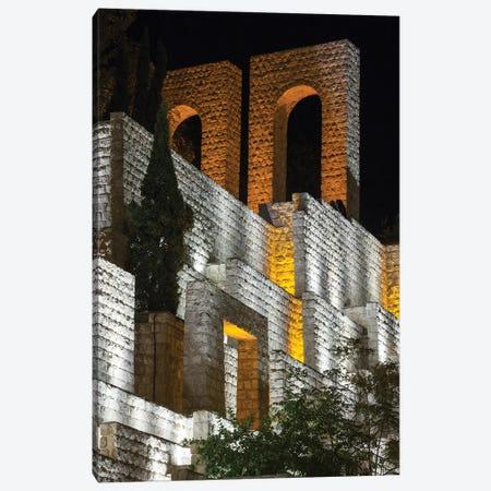 Iran, Shiraz, Quran Gateway Walls, Evening Canvas Print #WBI86} by Walter Bibikow Canvas Art