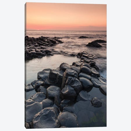 Ireland, County Antrim, Bushmills, Giants Causeway, basalt rock formation Canvas Print #WBI89} by Walter Bibikow Art Print