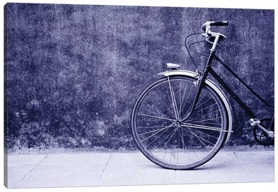 Front Half Of A Bicycle, Saint-Malo, Brittany, France Canvas Art Print