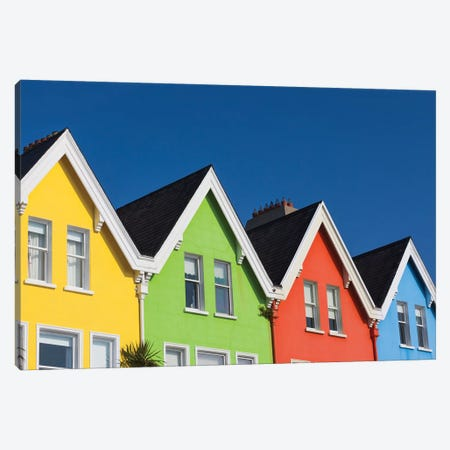 Ireland, County Antrim, Whitehead, colorful houses I Canvas Print #WBI90} by Walter Bibikow Canvas Art