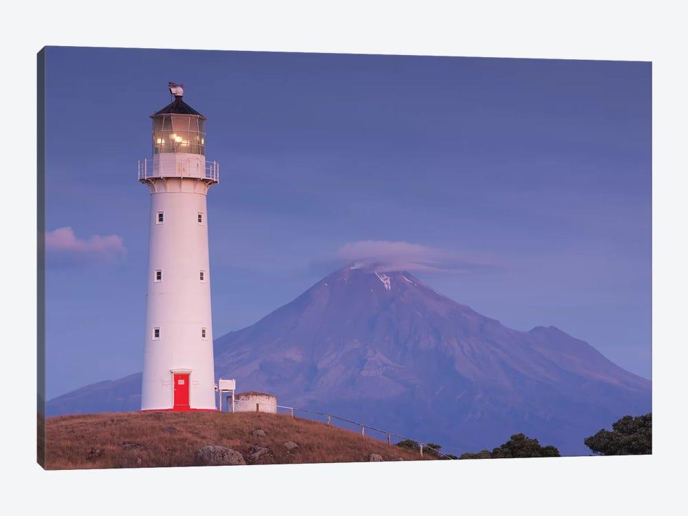 New Zealand, North Island, Pungarehu. Cape Egmont Lighthouse and Mt. Taranaki I by Walter Bibikow 1-piece Canvas Art Print