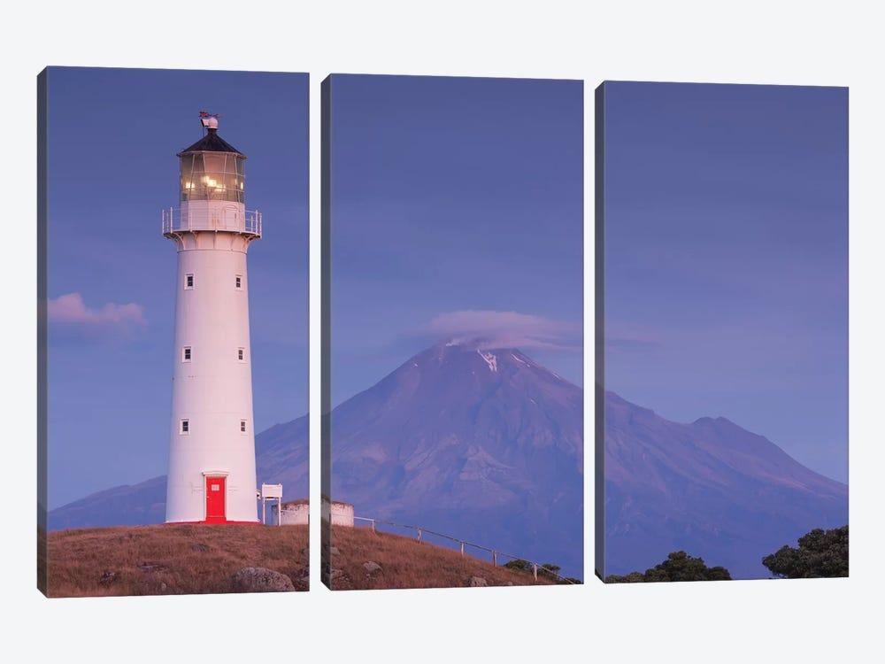 New Zealand, North Island, Pungarehu. Cape Egmont Lighthouse and Mt. Taranaki I by Walter Bibikow 3-piece Art Print