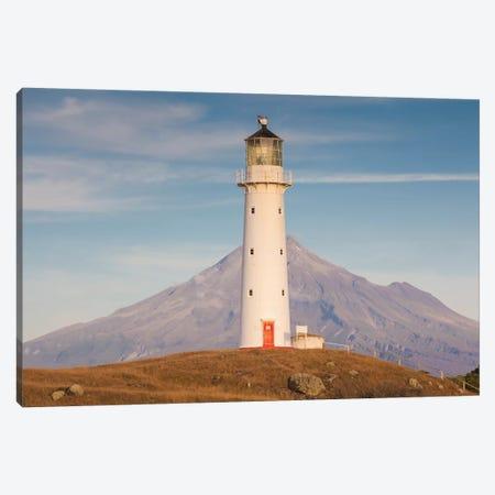 New Zealand, North Island, Pungarehu. Cape Egmont Lighthouse and Mt. Taranaki II Canvas Print #WBI95} by Walter Bibikow Canvas Print