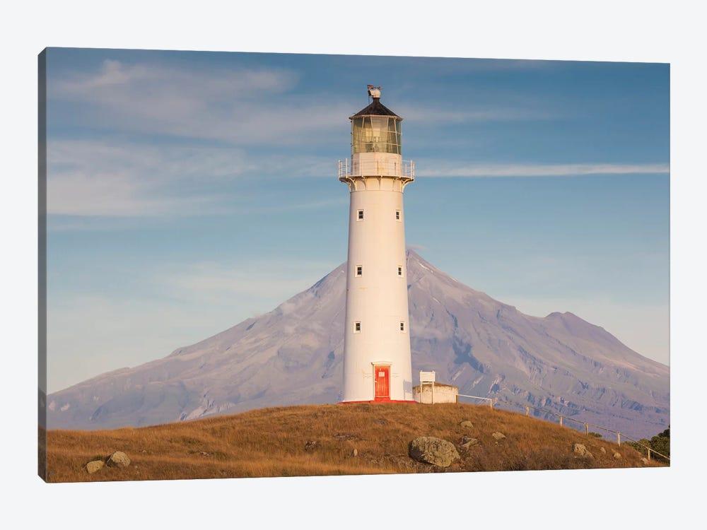 New Zealand, North Island, Pungarehu. Cape Egmont Lighthouse and Mt. Taranaki II by Walter Bibikow 1-piece Canvas Art