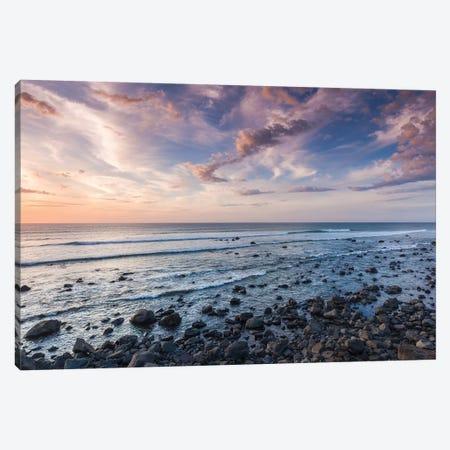 New Zealand, North Island, Pungarehu. Cape Egmont, seascape I Canvas Print #WBI96} by Walter Bibikow Art Print