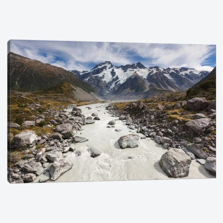 New Zealand, South Island, Canterbury, Aoraki-Mt. Cook National Park Canvas Print #WBI99} by Walter Bibikow Canvas Wall Art
